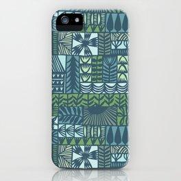 garden patchwork iPhone Case