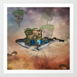 Awesome fantasy whale  Art Print