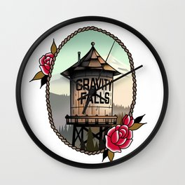 Gravity Falls Tattoos Wall Clock