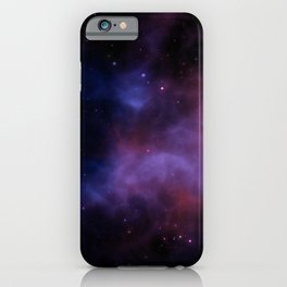 Nebula Blue Violet iPhone Case