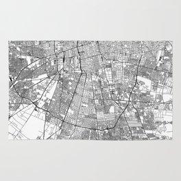Santiago White Map Rug
