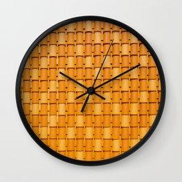 Orange rooftop Wall Clock