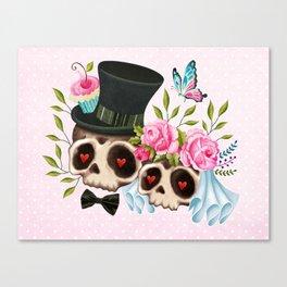 Together Forever - Sugar Skull Bride & Groom Canvas Print