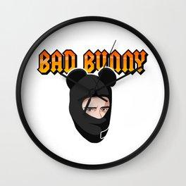 Bad Bunny Cuidao por ahi Wall Clock