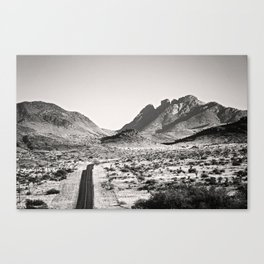 The Lost Highway III Black & White Canvas Print