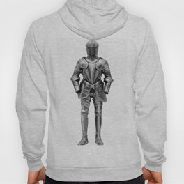 Knight's Silver Battle Armor Photograph (1580) Hoody
