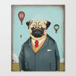 Mr Dog Steampunk Canvas Print