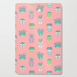 Home from Spring Coral Cutting Board