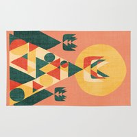 sunset Area & Throw Rugs featuring Sunset Tipi by Picomodi