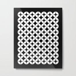 Mid Century White Star Burst Circles  Metal Print