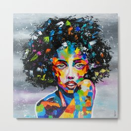 EXOTIC GIRL Metal Print