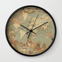 Ancient world map 4 Wall Clock
