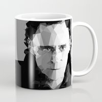 tom hiddleston Mugs featuring TOM by THE USUAL DESIGNERS