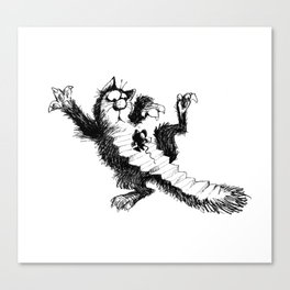 Cat and Mouse Art Canvas Print