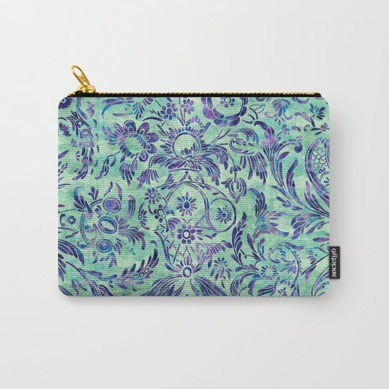 Watercolor Damask Pattern 06 Carry-All Pouch