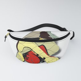 Red Head Artwork Fanny Pack