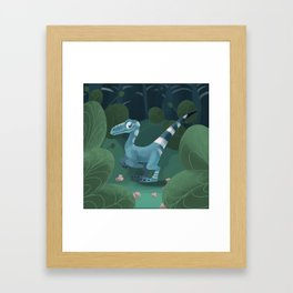 A little Dinosaur Framed Art Print