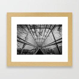 Chain-Link Walkway Framed Art Print