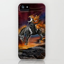 Texas Ghost Rider iPhone Case