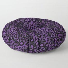 Deep Purple Leopard Skin Pattern Floor Pillow