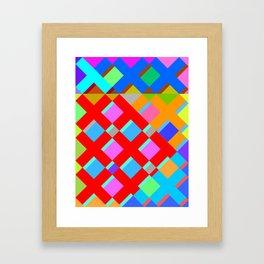 Cubic Quilt Pattern  Framed Art Print