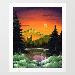 """""""Black Lake"""" Art Print"""