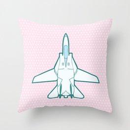 Cute Lil' Tomcat (open) Throw Pillow