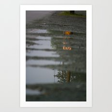 Reflections of speeding Art Print