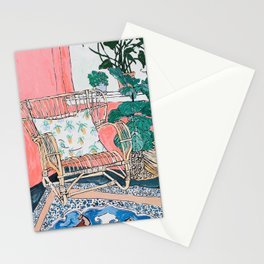 Cane Chair in Pink Interior Stationery Cards