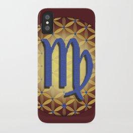Flower of Life VIRGO Astrology Design iPhone Case