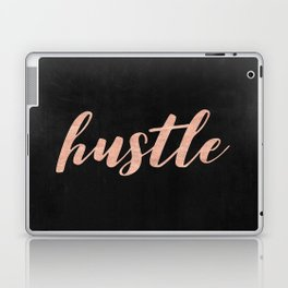 Hustle Rose Gold Pink on Black Laptop & iPad Skin