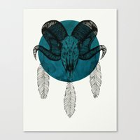 ram Canvas Prints featuring Ram  by Luis Patino