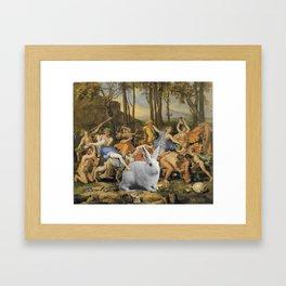 Et in Arcadia rabbit Framed Art Print