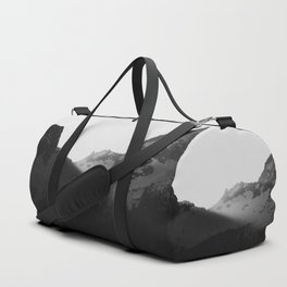 Sun rays over the mountains Duffle Bag