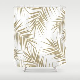Palm Leaves Cali Finesse #2 #gold #tropical #decor #art #society6 Shower Curtain