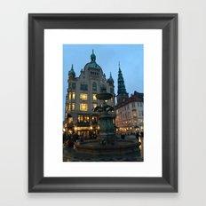 Copenhagen winter dusk Framed Art Print