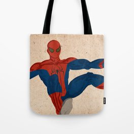 spiderman, spiderman does whatever a spider can Tote Bag