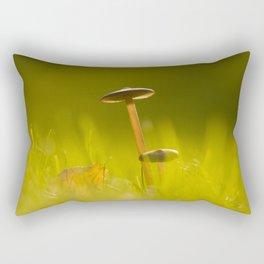 Small Mushrooms on Grass Autumn Scene #decor #society6 #buyart Rectangular Pillow