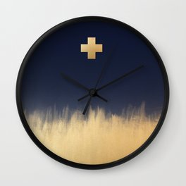 Gold Cross Wall Clock