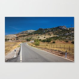 Empty road somewhere in Spain Canvas Print