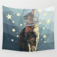 space cat Wall Tapestries featuring Space Cat. by Dani Does Art
