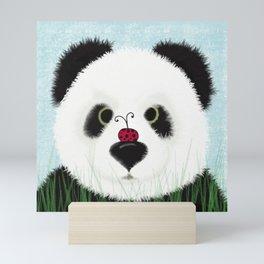 The Panda Bear And His Visitor Mini Art Print
