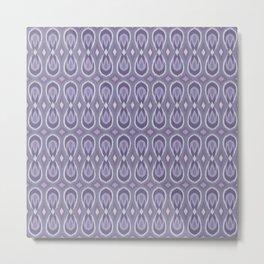 Ikat Teardrops in Lavender and Lilac Metal Print