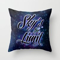 2pac Throw Pillows featuring Sky's The Limit by Gold Blood