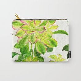 Kiwi Pink Succulents Carry-All Pouch