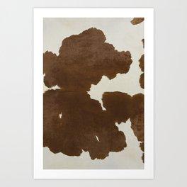 Dark Brown & White Cow Hide Kunstdrucke