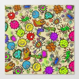 Doodle Germs Canvas Print