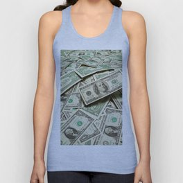 Currency Photographic Art Unisex Tank Top