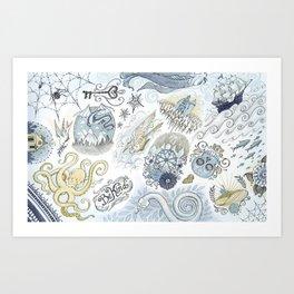 Tattoo Pattern Art Print