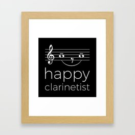 Happy clarinetist (dark colors) Framed Art Print